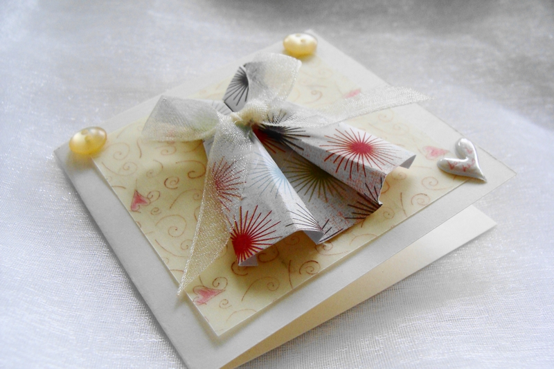 Mothers Day Card Gift Card Origami Mini Paper Dress   Felt - photo#10