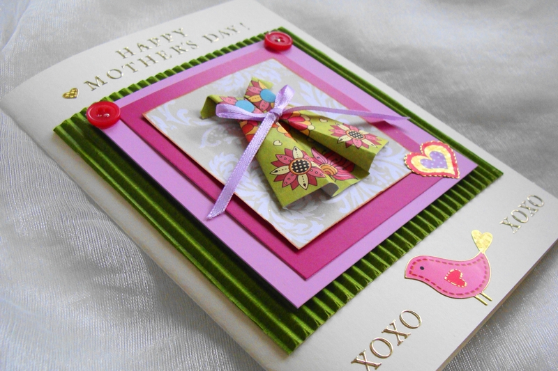 Mother's Day Card, Happy Mothers Day, Gift Card, Origami ... - photo#44