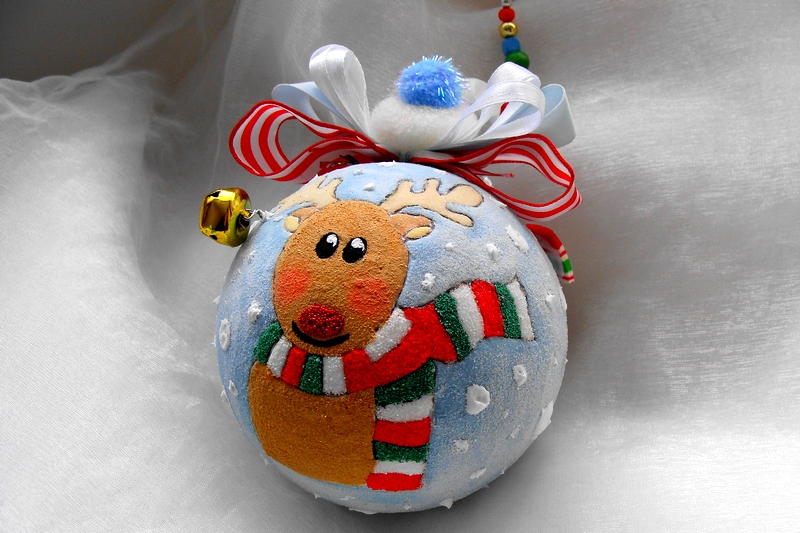 Personalized Christmas Ornament Reindeer Bauble Jingle