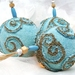 Christmas Ornaments, Christmas Baubles,Tree Ornament, Tree Decoration, Decortive Balls, Aqua Ice Blue, Cottage Chic