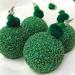 Green Beaded Christmas Decoration, Christmas Ornaments, Beaded Ornaments, Christmas Bauble