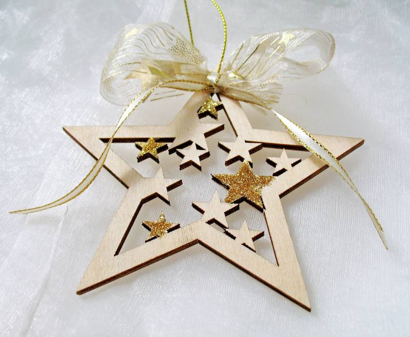christmas star ornaments laser cut wood stars christmas tree ornaments christmas tree stars