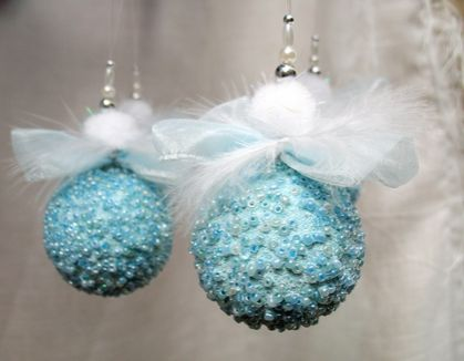 blue christmas ornaments baby blue christmas decoration blue ornaments beaded ornaments christmas