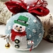 Snowman Christmas tree Ornament, Snowman decoration, Snowman Ornament, Frosty the snowman