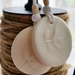 Pohutukawa  Decoration, House Warming Gift, Gift Tag, 2 Clay Ornaments