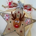 Christmas Ornament, Christmas Tree star, Rustic Wood star, Reindeer Ornament, Candy Cane, felt, stars, reindeer decoration