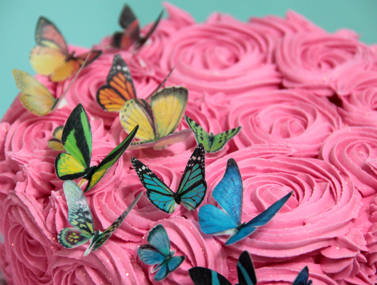 Cake Decorating With Edible Paper : Edible wafer paper butterflies Felt