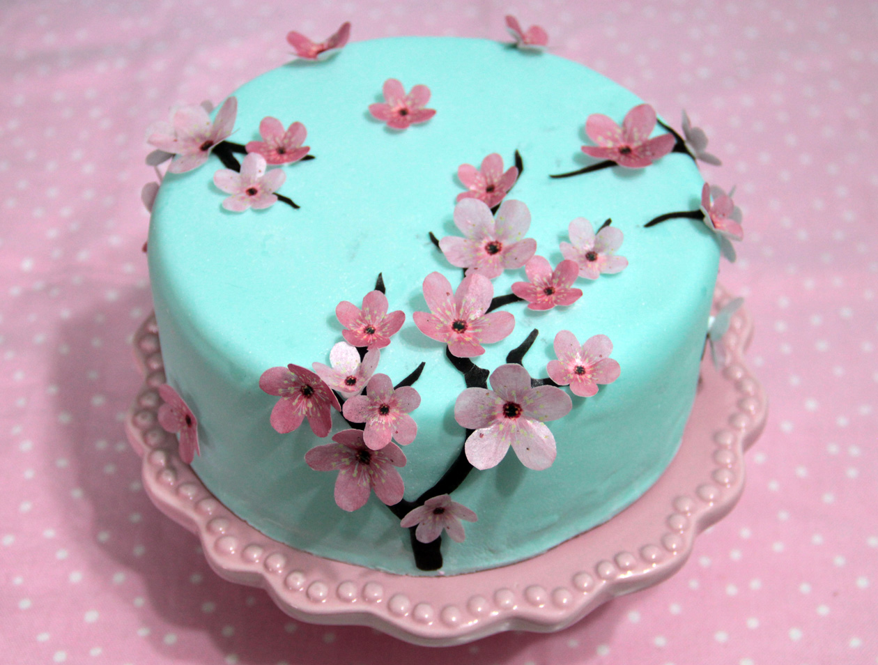 Cake Decorating With Edible Paper : Edible wafer paper Cherry Blossom Felt