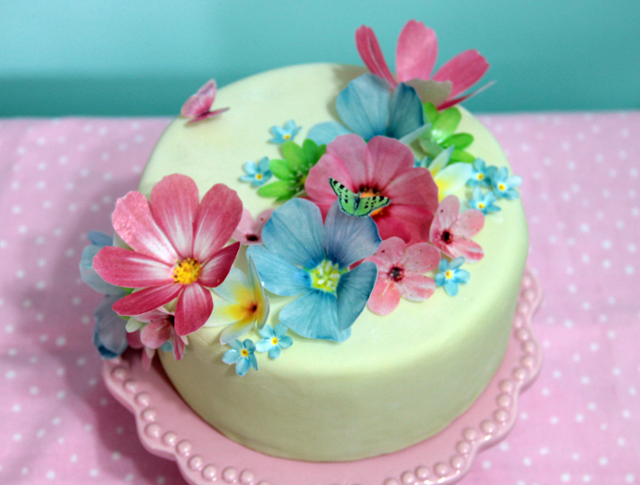 Wafer Flowers Cake Decorations