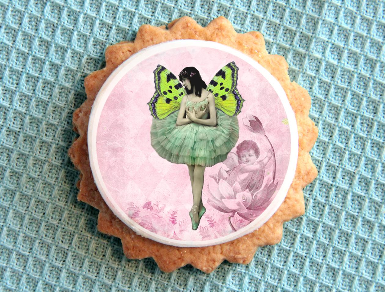 Edible Cake Images New Zealand : Edible wafer paper Ballet Fairies Felt