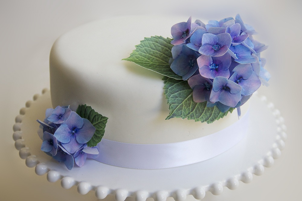 Edible Wafer Paper Hydrangea Fowers Felt