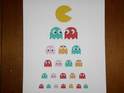 Eye Chart Art - Pacman Returns