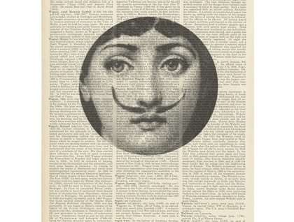 Vintage Dictionary Print - Fornasetti Moustache