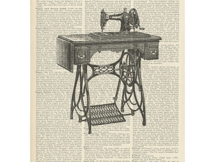 Vintage Dictionary Print - Singer Sewing Machine