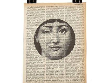 Vintage Dictionary Print - Fornasetti Wink
