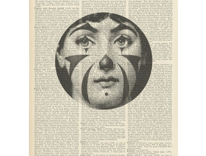 Vintage Dictionary Print - Fornasetti Stripes