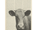 Vintage Dictionary Print - Cow