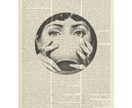 Vintage Dictionary Print - Fornasetti Cup