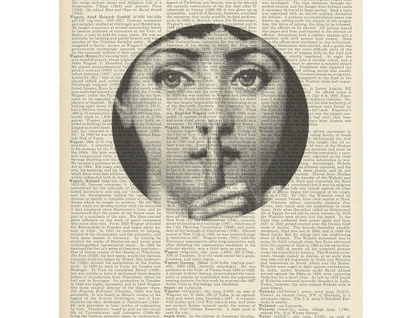 Vintage Dictionary Print - Fornasetti Shh