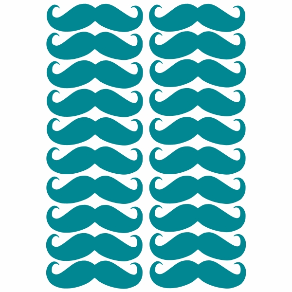 moustache removable wall stickers felt moustache sticker