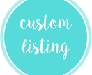 CUSTOM LISTING for annalake