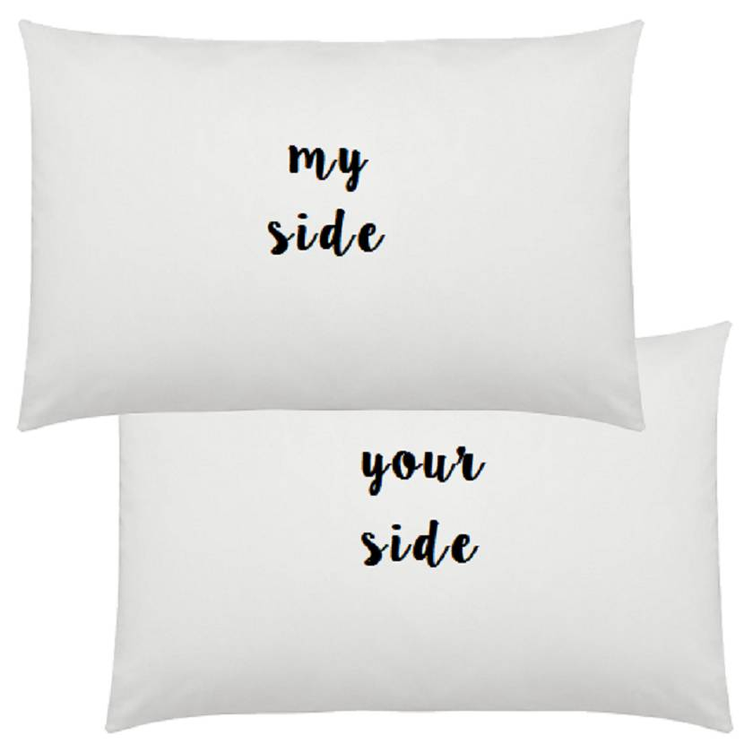 My side, your side pillowcase set