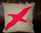Hessian Applique Cushion
