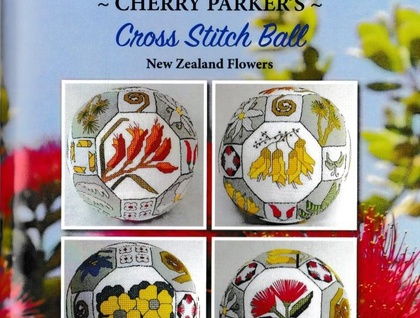 Cherry Parker's Cross Stitch Ball - New Zealand Flowers