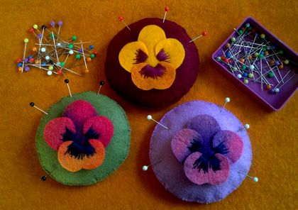 The Pansy Pincushion pdf pattern