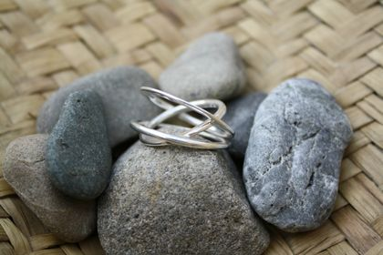 "STERLING SILVER ""HALO"" RING"