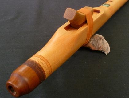 Native American Indian Style Flute- Fijian Kauri - E