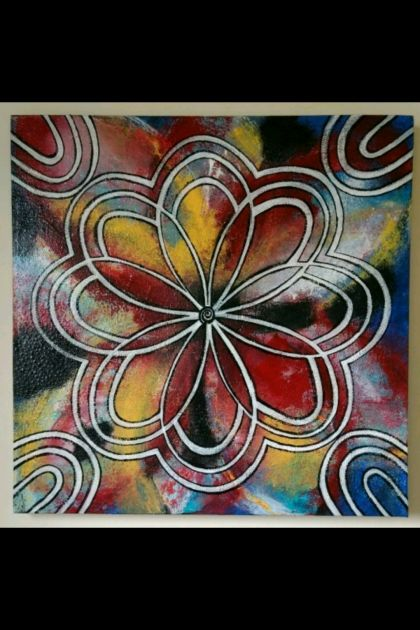 Tie-Dye  - Original Painting on Canvas