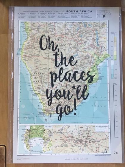 Oh, The Places You'll Go! - Atlas Page Print