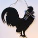 Stunning Rooster Shaped Blackboard