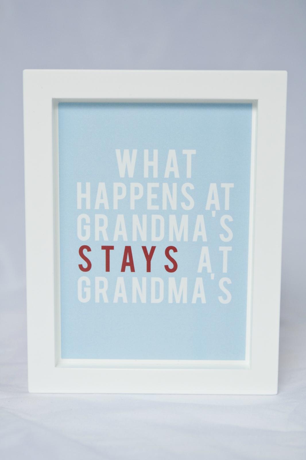 Wall Decor Framed Quotes : Framed grandma quote wall art felt