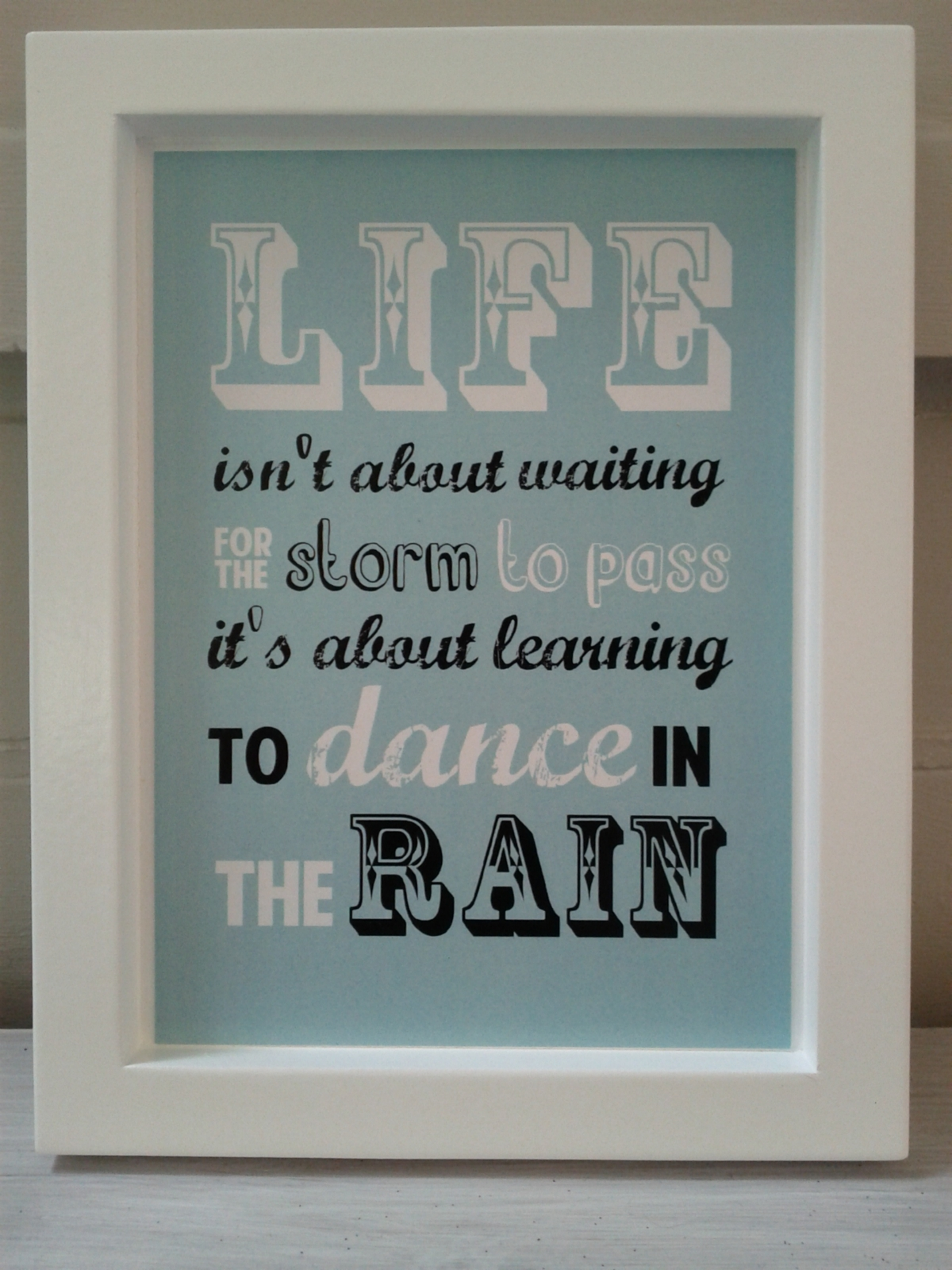 Wall Art Quotes Dance In The Rain : Medium size dance in the rain quote wall art felt
