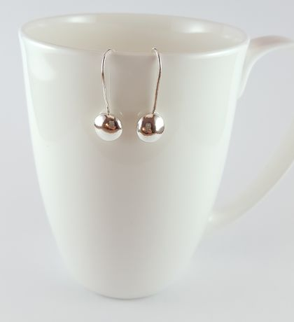 Sterling Silver Fixed Pebble Earrings