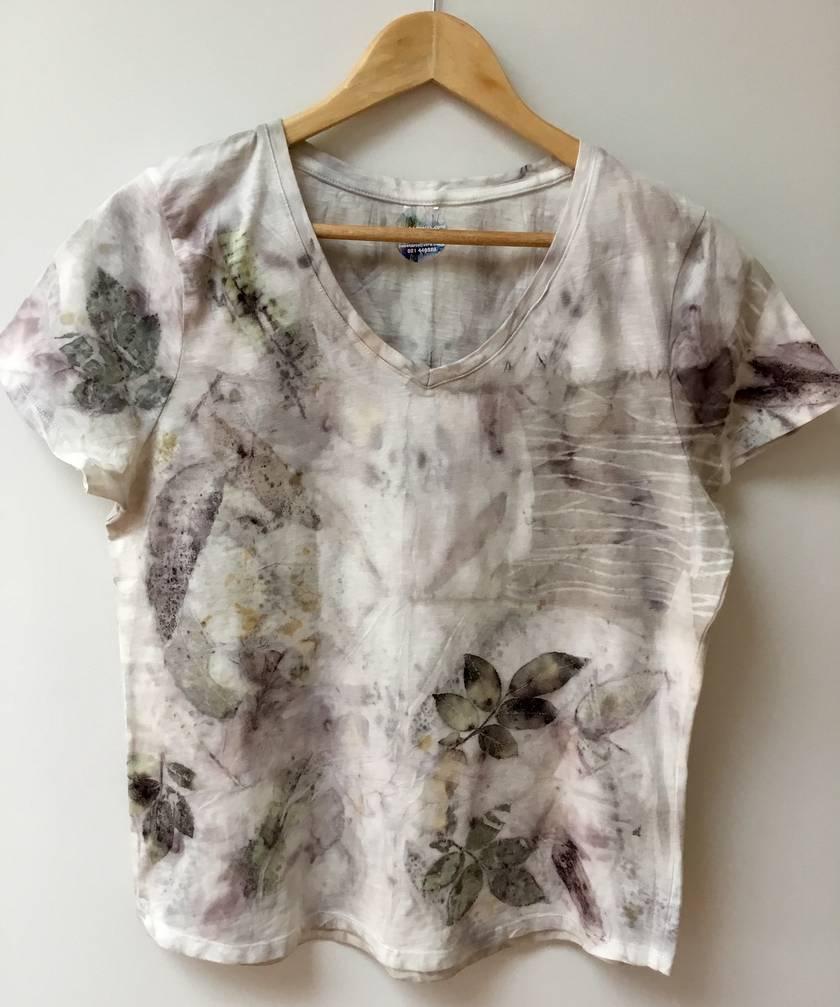 Eco print cotton t-shirt size 12