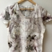 Eco print cotton t-shirt size 12