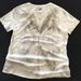 Eco print cotton t-shirt size 14