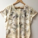 Women's eco print t-shirt size 16