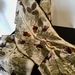 Large merino scarf/shawl, natural eco print