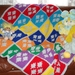 SCOTLAND: Diamonds crocheted baby or travel blanket – customised with your choice of colours.