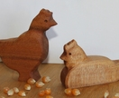 Wooden Chickens