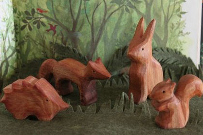 Woodland Creatures Set of 4 wooden animals