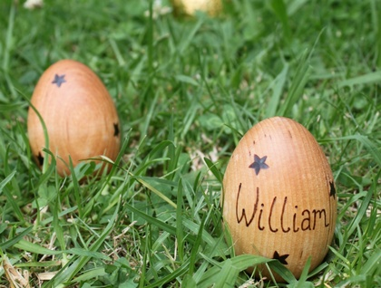 Personalised Wooden Easter Egg - Stars