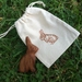 Little wooden Rabbit with gift bag