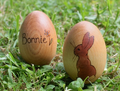 Personalised Wooden Easter Egg - Peter Rabbit