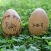Wooden Easter Egg - Flower garland