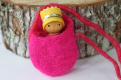 Rainbow Gnome in a Pouch